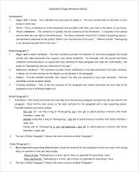 Word Research Paper Template Free Expository Essay Outline Template Word Doc Research