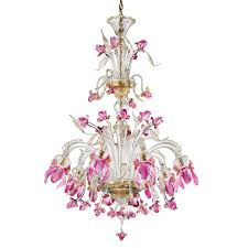delizia pink flowers tall murano glass chandelier murano glass chandeliers