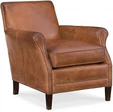 royce natchez brown leather club chair main image