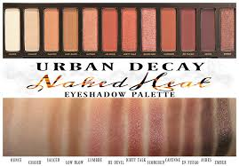 urban decay heat eyeshadow palette swatches swatch review pics photos sephora summer makeup trends