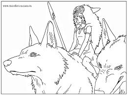 Coloriage Princesse Mononokl