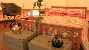 bell tents at barefoot campsites