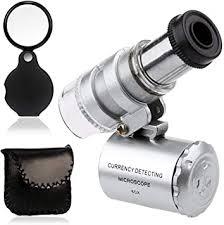KINGMAS <b>Mini</b> 60x Microscope Magnifying with <b>LED</b> Light <b>Pocket</b>