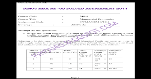 Ignou mba ms 09 solved assignments 2011 - [PDF Document]