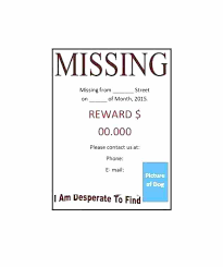 Missing Person Poster Template Extraordinary Lost Poster Template Lost Poster Template Animal A Open Pet And