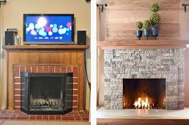 stacked stone tile fireplace attractive 25 beautifully tiled fireplaces