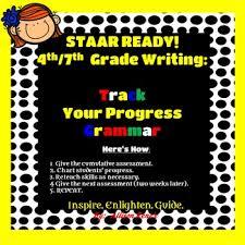 4th 7th Grade Writing Staar Ready Track Your Progress Grammar