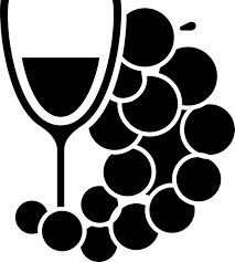 grapes clipart black and white. wine glass and grapes clipart black white