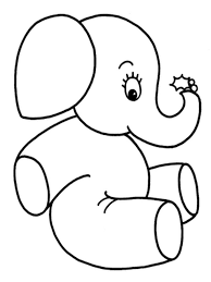 Baby Elephant Coloring Pages Realistic At Face Page - glum.me