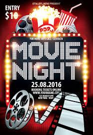 Free Movie Night Flyer Templates Movie Night Psd Flyer Template Psd Flyer Templates Flyer