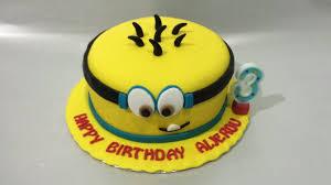 Minion Cake Fondant How To Make Easy Birthday Cake Youtube