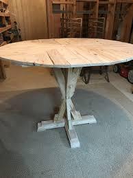 Center Post X Style 48 Round Kitchen Table Jts Pallet Designs