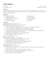 Electrician Resume Unique Entry Level Electrician Amere