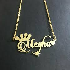 brass golden custom name pendant rs