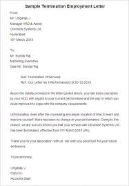 Employee Termination Letter Letter Templates Free