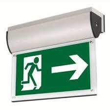 aurora 240v alu wall mounted led emerg exit sign without legend