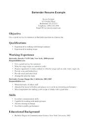 Bartender Resume Example Examples Of Resumes Resume Example Beauteous Bartending Resume Skills
