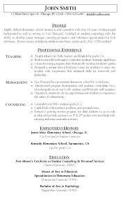 Teacher Resume Objective Sample Resume For Teachers Teacher Resume