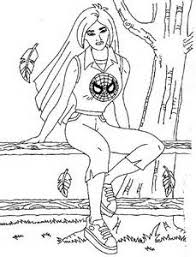 Small Picture Spider Girl Coloring Pages regarding Motivate to color spider