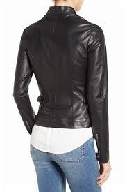 lamarque women s black lambskin leather biker jacket best ers whole women s faux leather coats usa