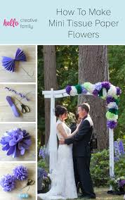 tissue paper flower centerpiece ideas how to make diy mini tissue paper flowers for party decorations
