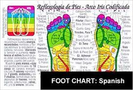 Buy Reflexologia De Pies Arco Iris Codificata Tabla Foot