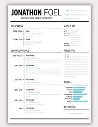 Creative Resume Templates For Microsoft Word Inspiration Simple Resume Template Creative Resume Templates Doc Simple