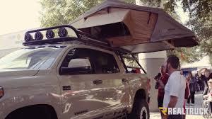 Custom Adventure Toyota Tundra with Roof Rack Truck Tent SEMA 2016 ...