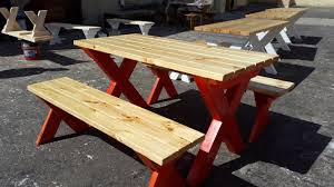 outdoor table benches