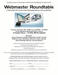 ncla webmaster roundtable event flyer
