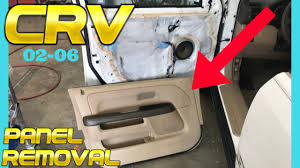 2002 2003 2004 2005 2006 honda crv front door panel trim removal how to remove replace install