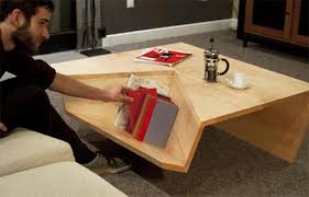 modern and minimalist coffee table with