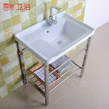 get ations with a faucet without shelf floor balcony ceramic wash basin laundry tub laundry tub or laundry