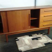 danish teak ceedenza buffet with sliding doors and four pull drawers now in lots