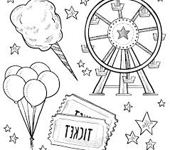carnival themed coloring sheets page colouring circus animal pages lion col