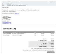 Example Of A Invoice Sample Invoice Emails