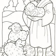 Small Picture Free Coloring Parable Of The Lost Sheep Coloring Page