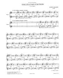 hallelujah piano sheet music hallelujah junction piano duo piano by ad j w pepper sheet music