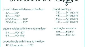 6 foot round table what size tablecloth for 5 awesome how to choose measurements height in