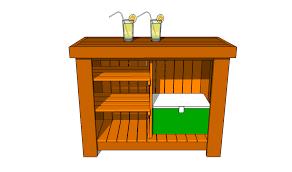 woodwork build wood outdoor bar pdf plans