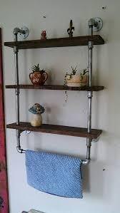 reclaimed wood pipe shelf black pipe shelving custom black pipe wall