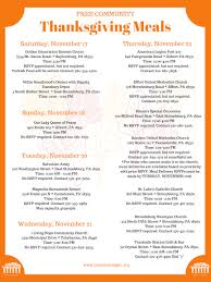 · traditional thanksgiving food list: Free Thanksgiving Dinners In Monroe County The West End Reporter