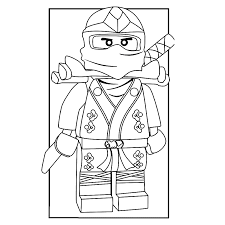 Jay Ninjago Coloring Page Causesofchildhoodobesity