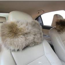 fuzzy seat covers warm soft blended wool fur car headrest pillow furry seat covers head neck fuzzy seat covers car