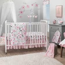 Bedtime Originals Blossom <b>Pink Watercolor</b> Floral <b>3</b>-<b>Piece</b> Baby ...