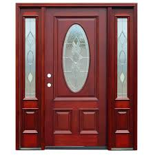 Wood Doors Front Doors The Home Depot - Exterior door glass replacement