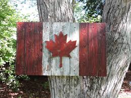 Small Picture 3D Distressed Canadian Flag Canada flag maple leaf rustic