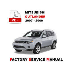 mitsubishi manual 2009 2007 2009 mitsubishi outlander oem service repair fsm manual wiring diagram