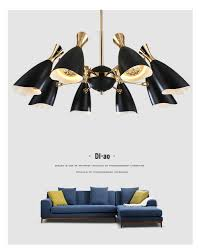 Großhandel Moderne Led Schwarz Weiß Gold Kronleuchter Leuchte Lampe Unterputz Metall Eisen Für Küche Wohnzimmer Schlafzimmer Von Dpgkevinfan 2000