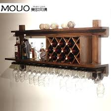 wall mounted wood wine rack cooler modern bar glass hanging for walls cabinet plans wooden wall wine rack
